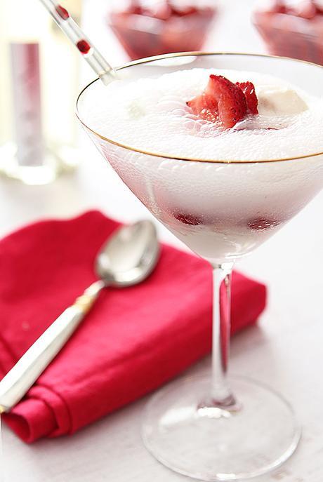 strawberries,hulled and quartered 1 Tbsp sugar Vanilla Bean Ice Cream ...
