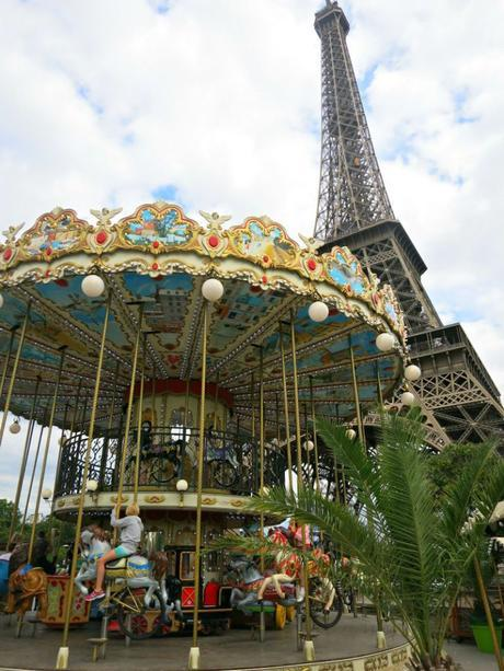 Merry Go Rounds and Eiffel Tower in Paris