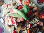 Salmon Mushroom Cream with Quinoa