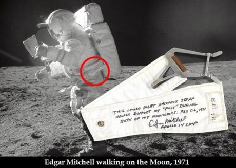 Edgar Mitchell on moon walk in 1971