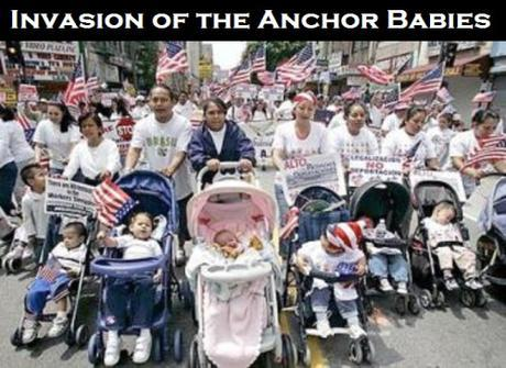 Mothers and their babies march down Broadway for a May Day rally at Los Angeles City Hall. (Luis Sinco / LAT) May 1, 2007