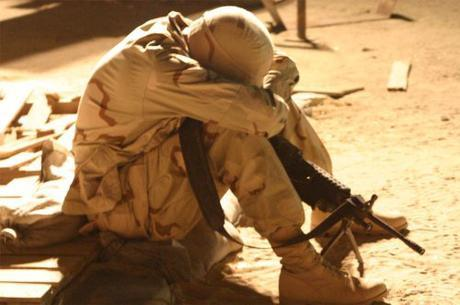 tired soldier