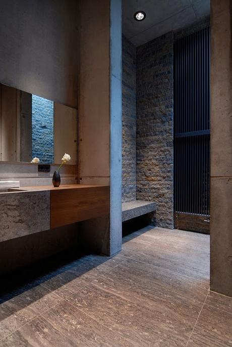 Manly Bathroom Colors: Designer Tips: Masculine Bathroom Design