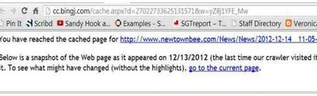 Bing cache of Newtown Bee story