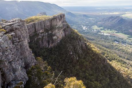 view halls gap from pinnacles grampians