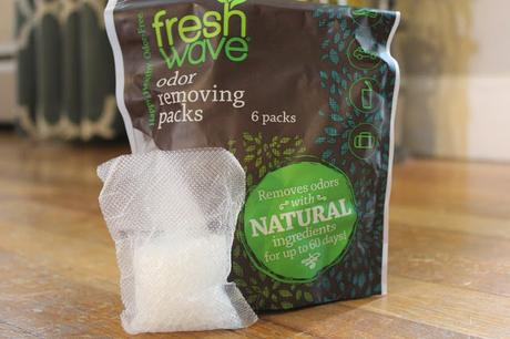 Eliminating odors with Fresh Wave gel packs
