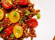 Zesty Beluga Lentil Roasted Tomato Salad with Herbs