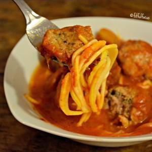 Recipe Redux: Healthy Spaghetti & Meatballs {nut/soy/gluten/lactose-free}