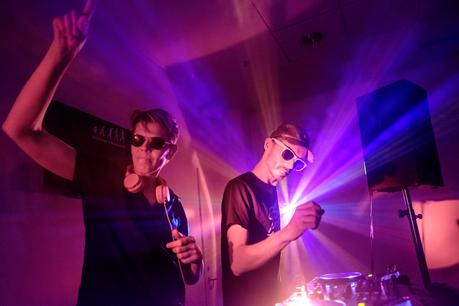 A dream comes true! Tag Team DJing with Copyflex. Image by Charlene Winfred.
