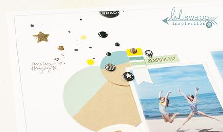 A fun layout created by Maggie Massey for Heidi Swapp using the brand new Heidi Swapp sticker set at Michaels stores