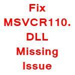 solution to fix msvcr110.dll file missing issue when installing wampserver