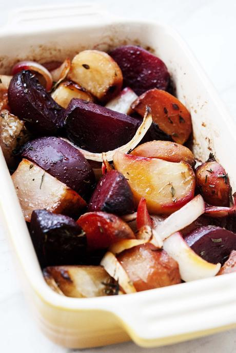 Roasted Balsamic Multi-Color Beets