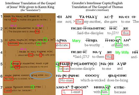 "The Gospel of Jesus' Wife: ""Patchwork"" Forgery in Coptic . . . and English"