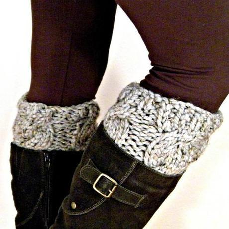 Ridiculously Easy DIY Sweater Boot Cuffs