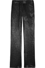 Karl Pam metallic-flecked twill pants