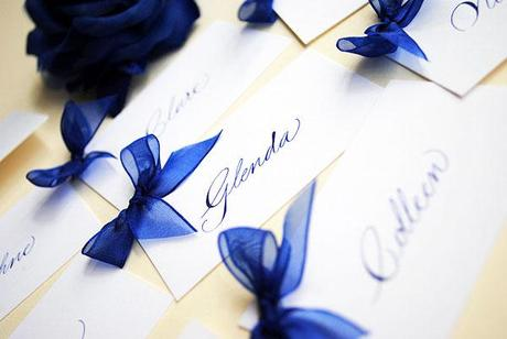 wedding calligraphy place cards