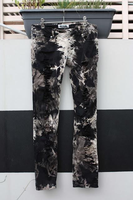 diy acid wash jeans paperblog