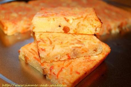 Semolina Carrot Cake