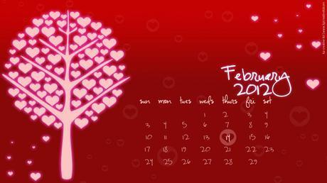Freebie! February 2012 desktop calendar