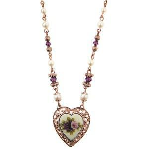 manor house vintage heart charm necklace