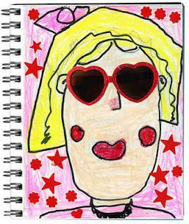 """""""Cool Shades"""" Art Journal Page"""