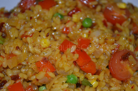Food: Healthy Vegetable Paella!