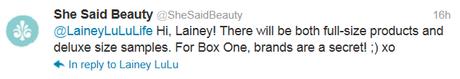 New Beauty Box - She Said Beauty