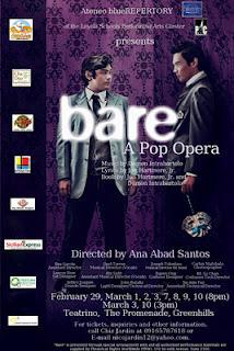 Ateneo Blue Repertory brings back Bare: A Pop Opera, opening Feb. 29