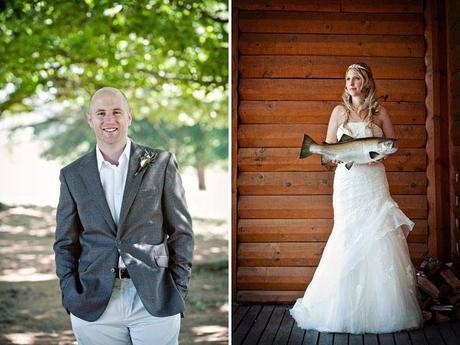 Fly fishing wedding on Green Wedding Shoes