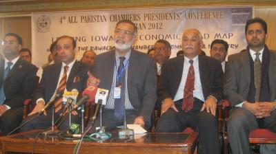 Chamber presidents announce Bhurban Declaration at a press conference.