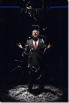 Terry Hamilton as Ken Lay in the Chicago premiere of ENRON by Lucy Prebble, directed by Rachel Rockwell