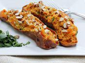 Food: Twice Baked Sweet Potato with Curry Almonds.