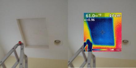 Poorly insulated attic access panel