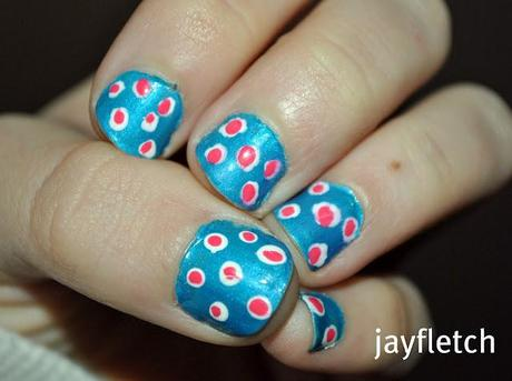 not so perfect polkadot nails