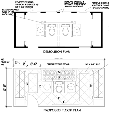 A Master Bath Renovation –The New Floor Plan