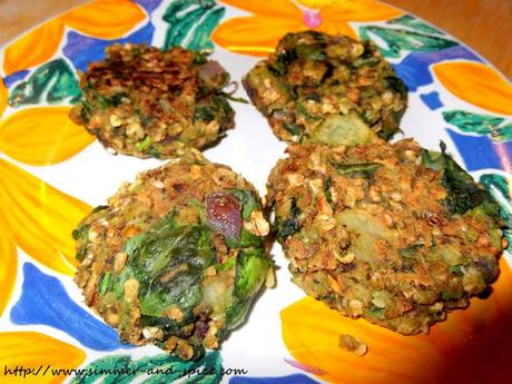 Oats and Spinach Cutlets