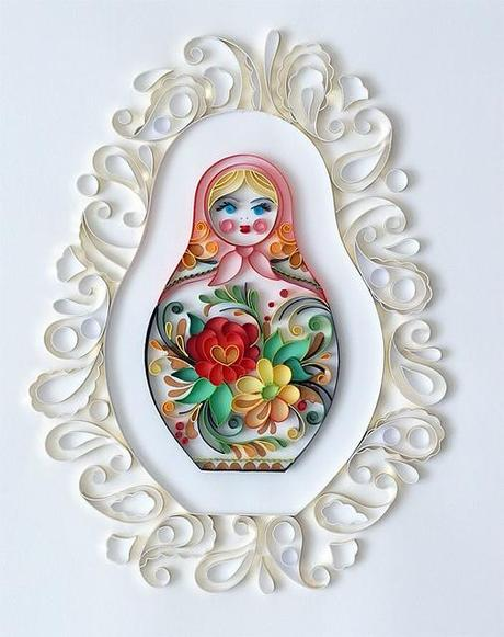 Quilling Wall Art Design : New quilled designs from natasha molotkova paper