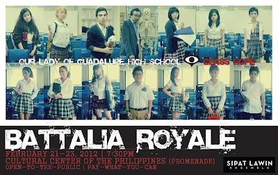 Sipat Lawin Ensemble's Battalia Royale, opening Feb. 21, fuses theater and live-action game