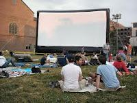 Large Outdoor Movie Screen Tarps With White Background Color