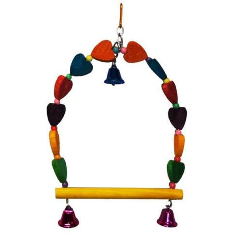 Heart Swing Bird Toy by No. American Pet Products