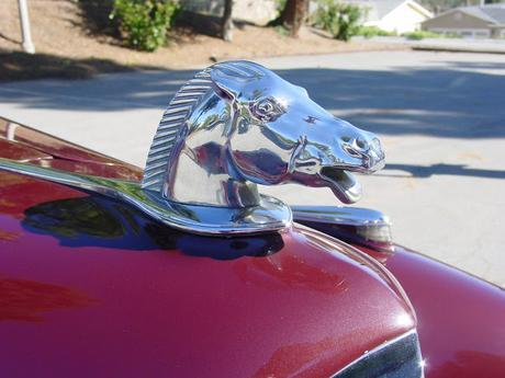 Mystery Solved. 1940 Packard Victoria, Horse Head Car Ornament, Originally Owned by Maybelline Founder, Tom Lyle Williams