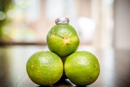 Wedding Ring shot on Lemons