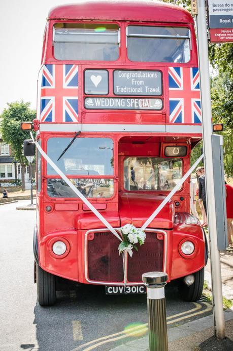 Routemaster bus for guests to Bexley