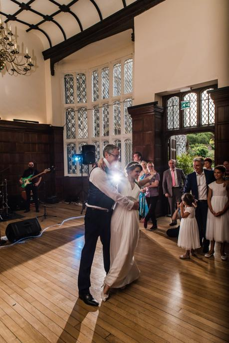 Bride Finishes First Dance with aplomb