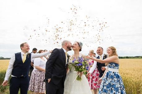 Barmbyfield Barn Wedding Photography confetti
