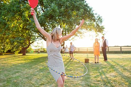 Barmbyfield Barn wedding photography lawn games and hula hoop
