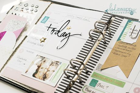 Planning...with the brand new Heidi Swapp sticker set!