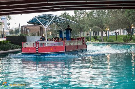 River boat tour in downtown Monterrey.