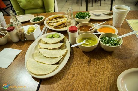Authentic tacos in Monterrey Mexico