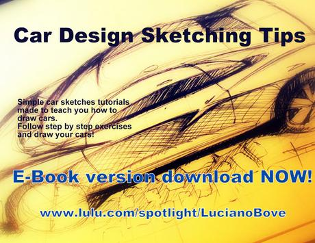 Car Design Sketching Tips E-Book now available for download!